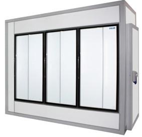 Камера холодильная со стеклянным фронтом Polair 2860 1960 2460