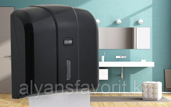 Диспенсер для листовых бумажных полотенец Z укладки Vialli KH-300B (Турция), фото 2