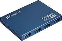 Хаб 7-портовый мини-разветвитель USB 2.0 Defender Septima Slim