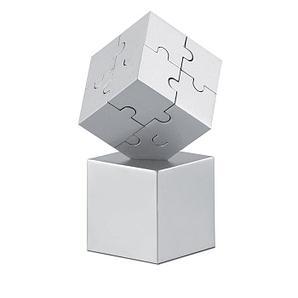 Металлический ЗD паззл в форме куба