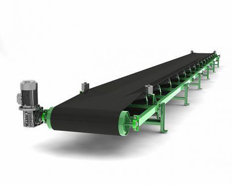 Конвейер для транспортировки сыпучих материалов