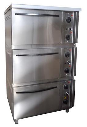 Шкаф жарочный ШЖЭП-3 трехсекционный (нержавеющая сталь)