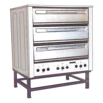 Шкаф пекарский 3-х секционный ТОРГМАШ (Люберцы) ШПЭСМ-3 (M) с пароувлажнением