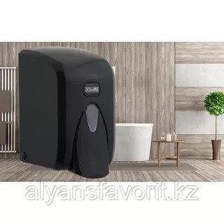 Диспенсер (дозатор) для пенки для мытья рук Vialli F5В (чёрного цвета) 500 мл., фото 2