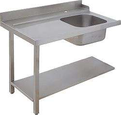 Стол для грязной посуды, с мойкой