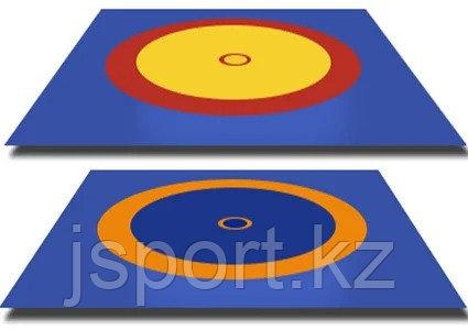 Покрышка для борцовского ковра (трехцветный) 12м * 12 м