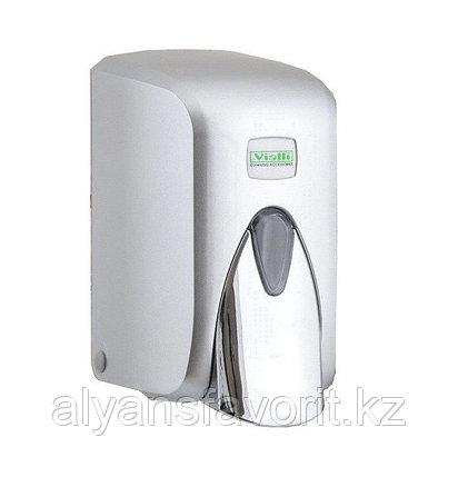 """Диспенсер (дозатор) для жидкого мыла Vialli S5С (""""хром"""") 500 мл., фото 2"""