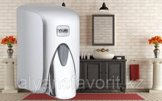 """Диспенсер (дозатор) для пенки для мытья рук Vialli F5С (""""хром"""") 500 мл., фото 2"""