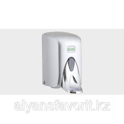 """Диспенсер (дозатор) для жидкого мыла Vialli S5МС (""""хром"""") 500 мл., локтевой, медицинский, фото 2"""