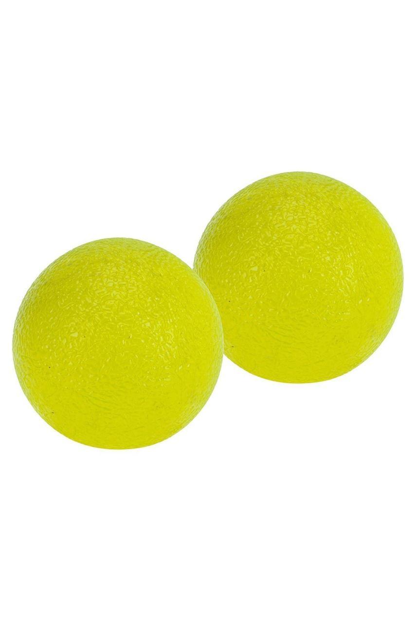 Мячики эспандеры для рук PURE2IMPROVE JELLY GRIP BALL YELLOW MED 2 шт