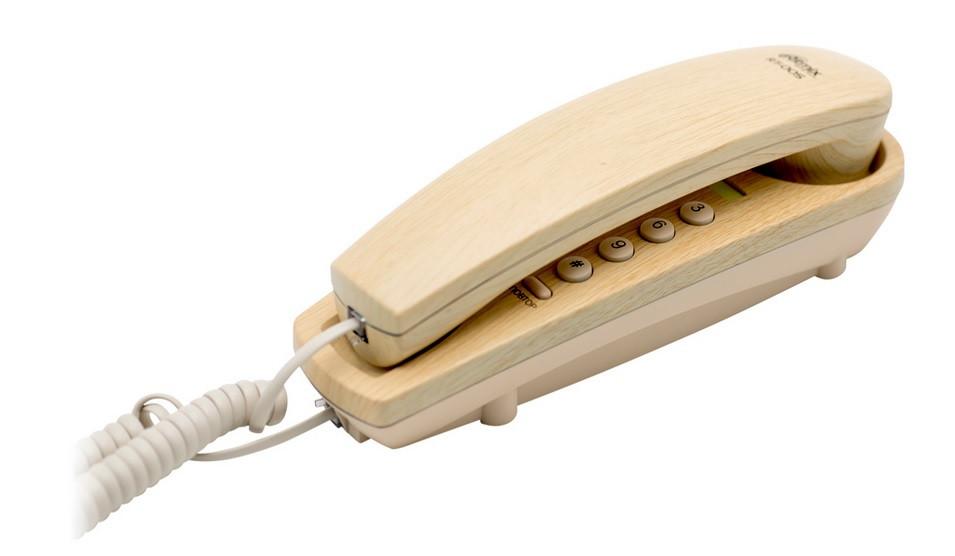 Ritmix RT-005 Телефон стационарный проводной светлое дерево