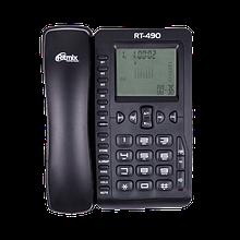 Ritmix RT-490 Телефон стационарный проводной черный
