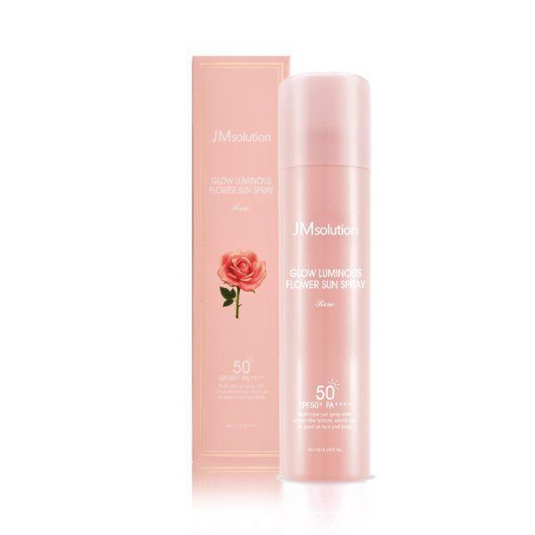 Солнцезащитный спрей-мист JMSOLUTION Glow Luminous Flower Sun Spray Rose SPF50+ PA+++ (180 ml)