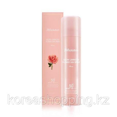 Солнцезащитный спрей-мист JMSOLUTION Glow Luminous Flower Sun Spray Rose SPF50+ PA+++ (180 ml), фото 2