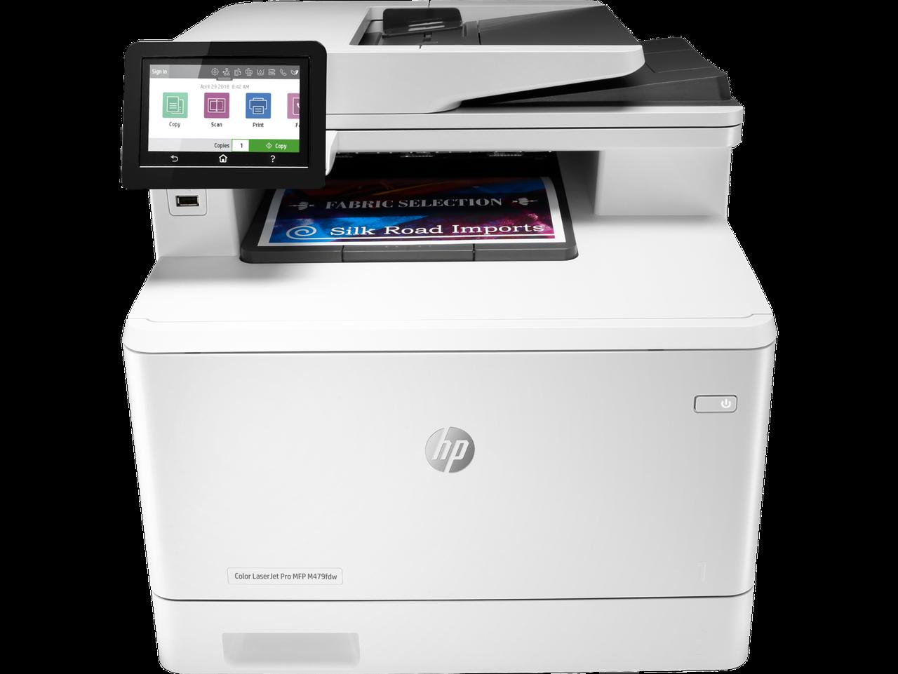 HP W1A80A МФУ лазерное цветное Color LaserJet Pro MFP M479fdw (A4)
