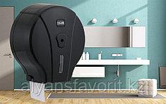 Диспенсер для туалетной бумаги Jumbo (Джамбо) черный.Vialli