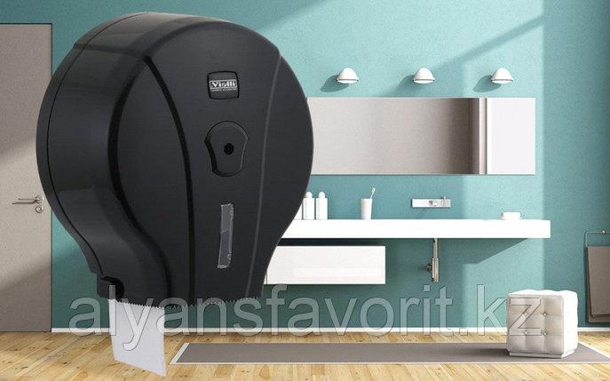 Диспенсер для туалетной бумаги Jumbo (Джамбо) Vialli MJ1 В (чёрного цвета), фото 2