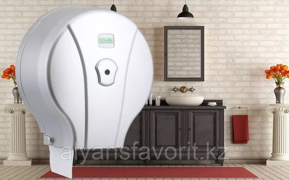 "Диспенсер для туалетной бумаги Jumbo (Джамбо) Vialli MJ1 M (""металлик"")"