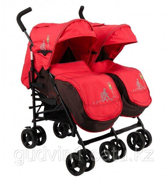 Коляска-трость для двойни Mobility One UrbanDuo, красный 00-82569