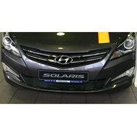 Защитная сетка/решетка радиатора для Hyundai Accent/Хюндай Акцент 2014-