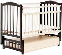 Кровать детская Bambini Классик M 01.10.10 Темный орех+Слоновая кость