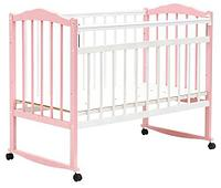 Кровать детская Bambini Классик М 01.10.09 Бело-Розовый