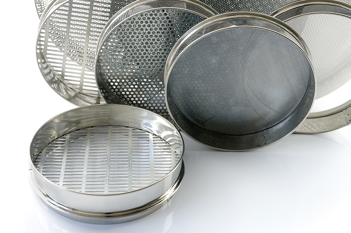 (Комплект сит )лабораторные сита с сеткой из  материалов бронза, латунь, полиамид и нержавеющая сталь