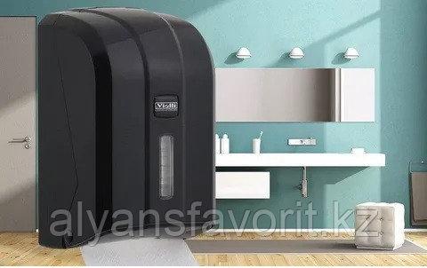 Диспенсер для листовой туалетной бумаги Z уклад чёрного цвета