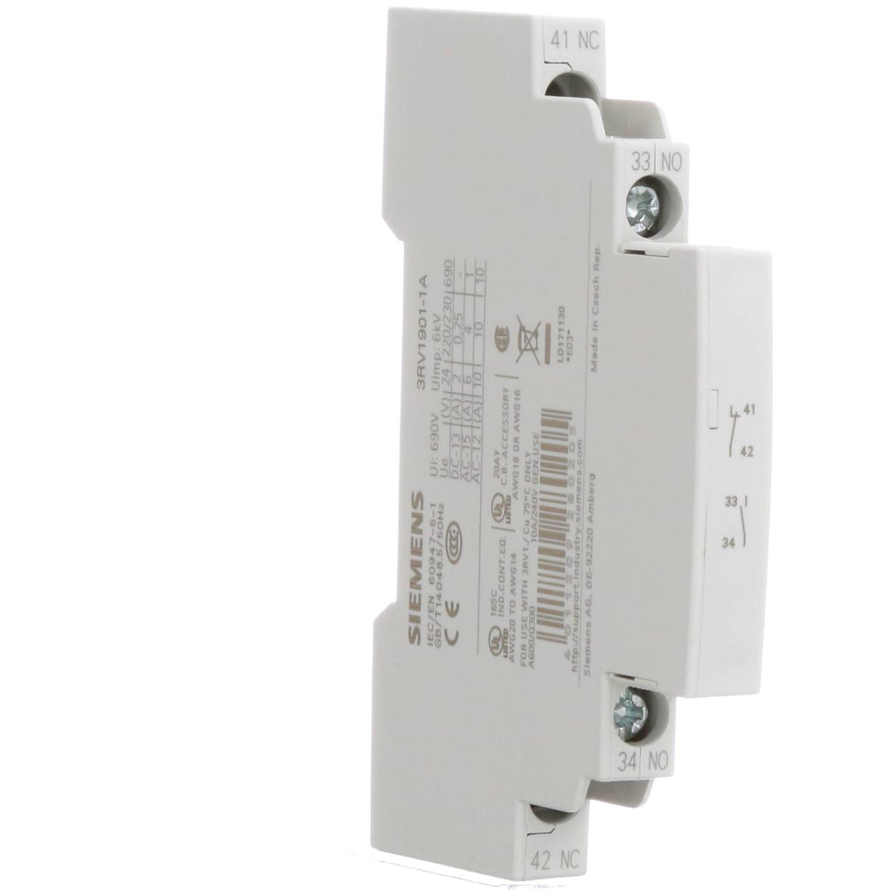 Дополнительный контакт для автомата S00 3RV1901-1A Siemens