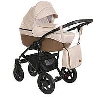Коляска детская Pituso Confort 2 в 1 Капучино+Кожа Тёмно-коричневый
