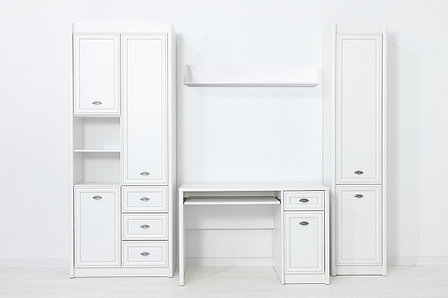 Шкаф пенал 2Д  как часть комплекта Салерно, Белый Белый, БРВ Брест (Беларусь), фото 2