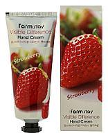 Крем для рук с экстрактом клубники от FarmStay