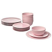 Сервиз ДИНЕРА 18 предметов светло-розовый ИКЕА, IKEA