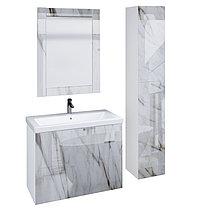 Зеркало Glass (Белый мрамор) с подсветкой., фото 2