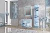 Зеркало Glass (Белый мрамор) с подсветкой., фото 4