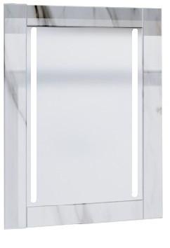 Зеркало Glass (Белый мрамор) с подсветкой.