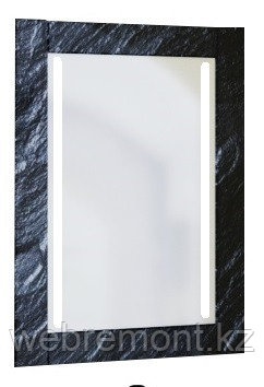 Зеркало Glass (Чёрный мрамор) с подсветкой., фото 2