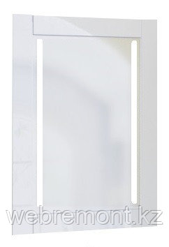 Зеркало Glass (Белый) с подсветкой.