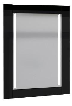 Зеркало Glass (Чёрный) с подсветкой.