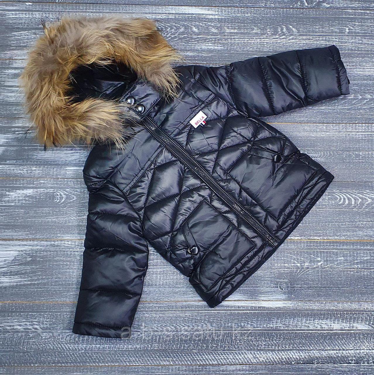 Куртка черная  Bella  (холодная осень, ранняя весна)