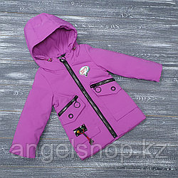 Куртка сиреневая осень