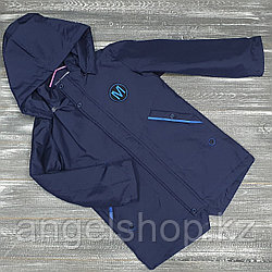 Синяя куртка м осень