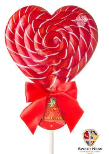 Карамель леденцовая в форме Сердца 120 гр. Sweet Ness