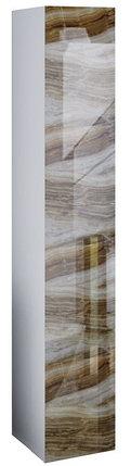 Пенал подвесной LACIO (Оникс мрамор). Стеклянный фасад. Левый/Правый., фото 2