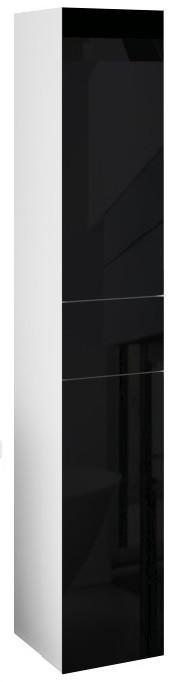 Пенал подвесной LACIO (Чёрный). Стеклянный фасад. Левый/Правый.