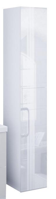 Пенал подвесной LACIO (Белый). Стеклянный фасад. Левый/Правый.