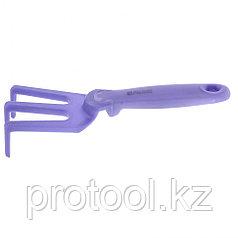 Рыхлитель 3-зубый, 75 x 250 мм, пластиковый, гелевая рукоятка, Nylon Soft Palisad