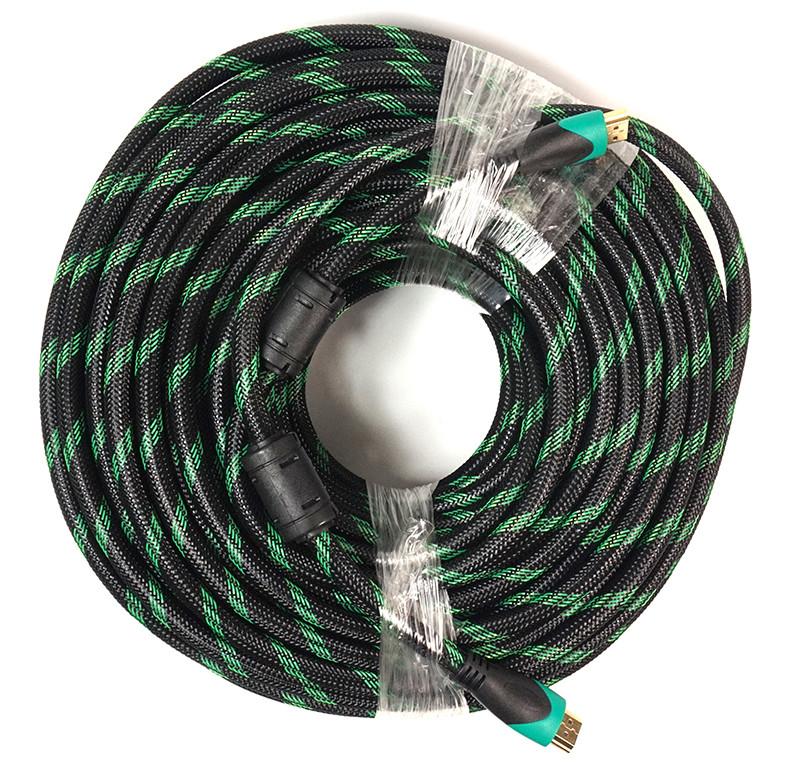 Видeo кабель PowerPlant HDMI - HDMI, 25m, позолоченные коннекторы, 2.0V