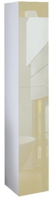 Пенал подвесной LACIO (Голубой мрамор). Стеклянный фасад. Левый/Правый.