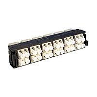 Лицевая вставка для MPO панелей Legrand LCS3, 24хLC, Duplex Multi mode, цвет: белый